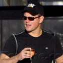 Matt Damon Relaxes With Wine In St. Barth
