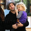 Pete Wentz And Meagan Camper Carry Bronx In Hollywood