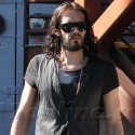 Russell Brand Goes About His Business
