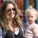 Rebecca Gayheart And Billie Play In The Park