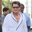 Charlie Sheen Shoots Direct TV Commercial