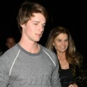 Patrick Schwarzenegger And Maria Shriver Attend Lakers Game