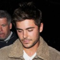 Zac Efron Attends The Lakers Game At The Staples Center