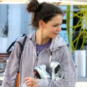 Katie Holmes Goes To Spin Class
