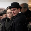Marion Cotillard And Joaquin Phoenix Film Scenes On A Boat In NYC