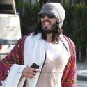 Russell Brand Gets Into The Yoga Spirit