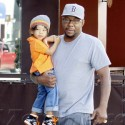 Bobby Brown Takes A Stroll With Son Cassius
