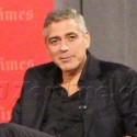 George Clooney Greets Fans After Q & A