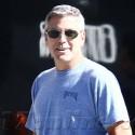 George Clooney Pounds The LA Pavement