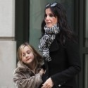 Courteney Cox And Coco Hang Out In NYC