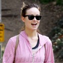 Olivia Wilde Takes Her Pup For A Walk