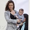 Alyssa Milano Takes Baby Milo To Work