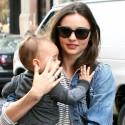 Miranda Kerr Takes Son Flynn Out In NYC