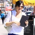 Selma Blair Embraces Bold Blue Pants For Lunch In Hollywood