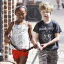 Brangelina And The Kids Hit New Orleans