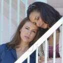 Alyssa Milano Looks Pretty In Blue Filming The Mistresses