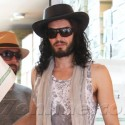 Russell Brand Goes Hat Shopping
