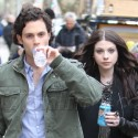Penn Badgley And Michelle Trachtenberg Film Gossip Girl In NYC