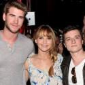 Liam Hemsworth, Jennifer Lawrence and Josh Hutcherson Start Promoting <em>The Hunger Games</em>