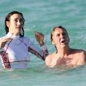 Paul McCartney And Nancy Shevell Go For A Dip In St. Barths
