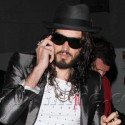 Russell Brand Arrives At His Comedy Show
