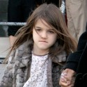 Suri Cruise Wears Hot Pink Tights While Out With The Nanny