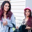 Snooki And J-Woww Hang Out In Jersey City