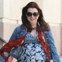 Alyson Hannigan Shows Off Her Baby Bump In Santa Monica