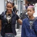 Jada Pinkett-Smith And Willow Go Shopping In Malibu