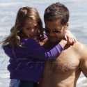 Brooke Burke And David Chavet Frolic In Malibu With The Kids