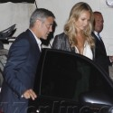 George Clooney Dines With Girlfriend Stacy and Friends