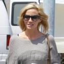 Camille Grammer Hits The Farmers Market In Malibu With Her Kids