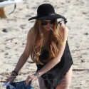 Lindsay Lohan Hits The Beach With Ali And A Gal Pal