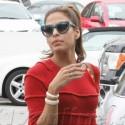 Eva Mendes Runs Errands In West Hollywood