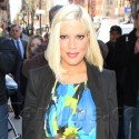 Pregnant Tori Spelling Hits Arts & Crafts Store In Colorful Dress