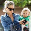 Ali Larter Takes Theo To The Park