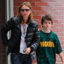 Calista Flockhart Runs Errands In Brentwood With Son Liam