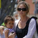 Denise Richards Totes Eloise To The Mall