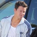 Mark Wahlberg Adjusts Himself On Set