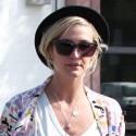 Ashlee Simpson Goes Shopping On Melrose