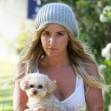 Ashley Tisdale Takes Her Pup For A Walk