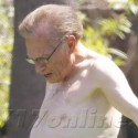 Larry King Goes Shirtless In Beverly Hills