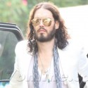 Russell Brand Arrives At Warner Bros.