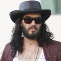 Russell Brand Dressed Like A Cowboy Leaving The Studio