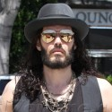Russell Brand Goes For A Stroll In West Hollywood