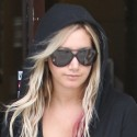 Ashley Tisdale Leaves A Coffee Shop In All Black
