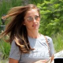 Minka Kelly Makes Her Way To The Gym