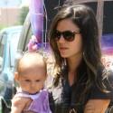 Rachel Bilson Carries A Friend's Child While Walking Through Los Feliz