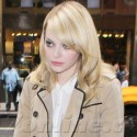 Emma Stone Lands In NYC After Promoting Spider-Man Around The World