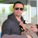 Hugh Jackman And Family Arrive At Barcelona Airport